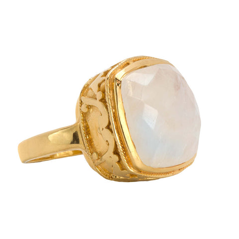 Moonstone Dreams Cocktail Ring