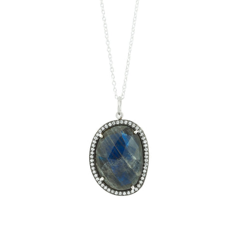 Jeweled Diadem Necklace In Labradorite