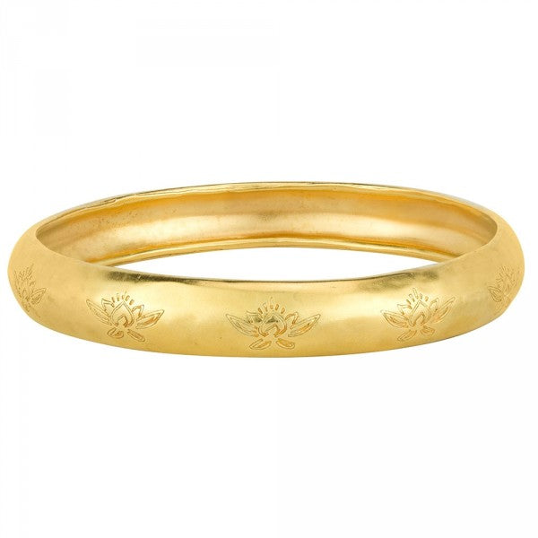 Sacred Lotus Bangle Bracelet