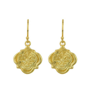 Small Gold Tree Of Life Earrings