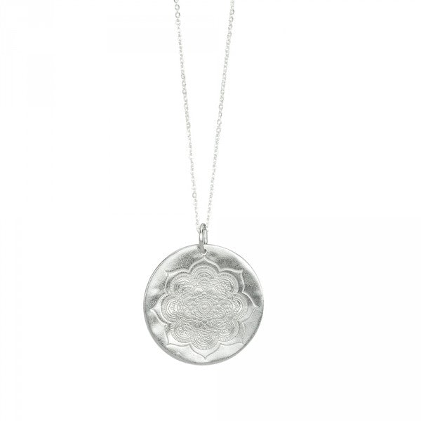 Sacred Lotus Necklace in Silver