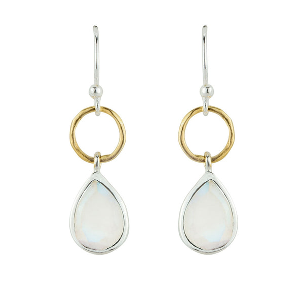 Pendulum Earrings in Moonstone