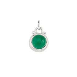 May -- Emerald Green Onyx Charm