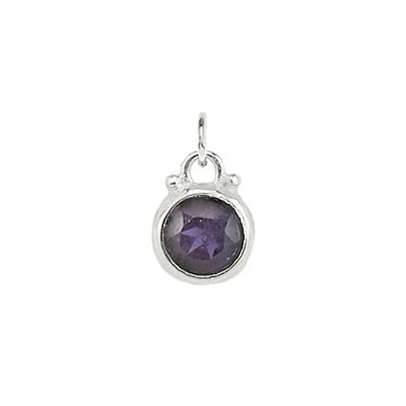 September -- Iolite Birthstone Charm in Silver