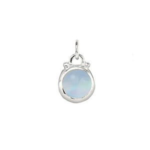 October -- Opal Moonstone Birthstone Charm