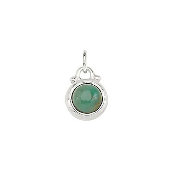 December -- Turquoise Birthstone Charm in Silver