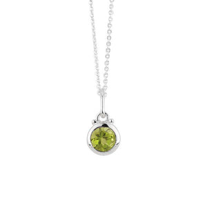 August Birthstone Charm Necklace