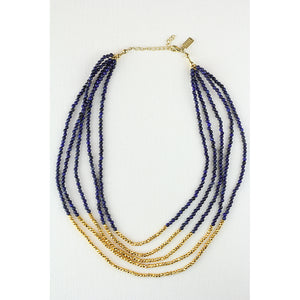 Elysian Necklace In Gold And Lapis