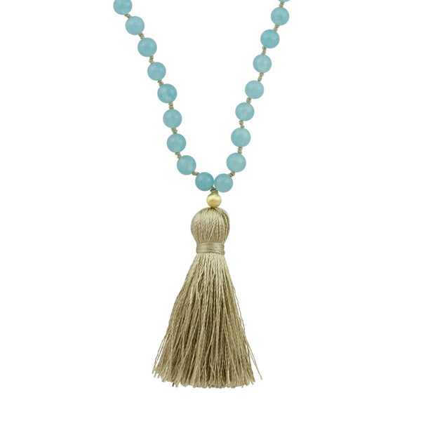 Angelite Mala Necklace