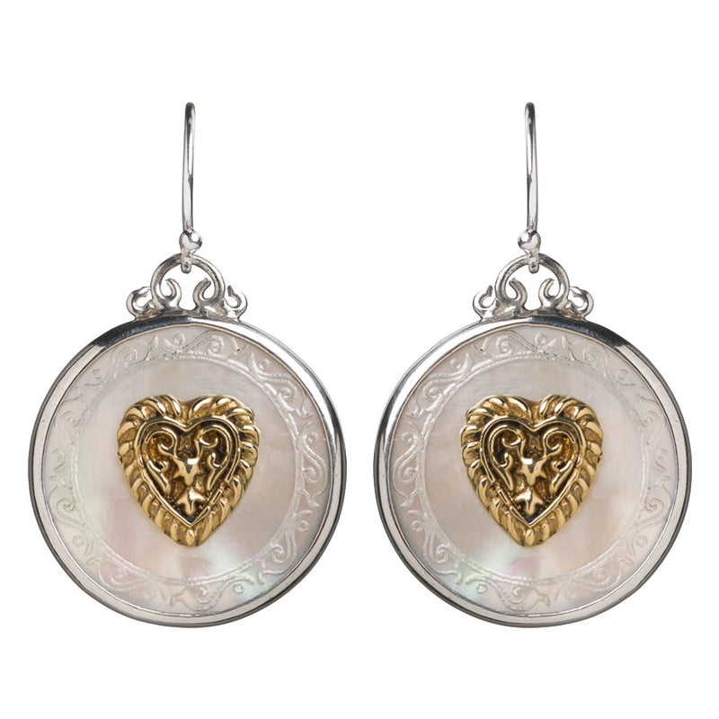 Pont Des Arts Mother Of Pearl Heart Earrings