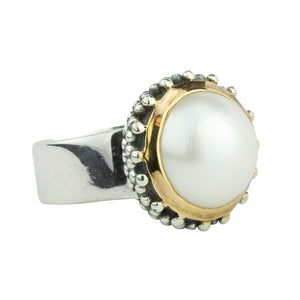 Patterned Pearl Ring
