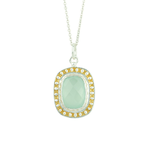 Cara Aqua Chalcedony Necklace