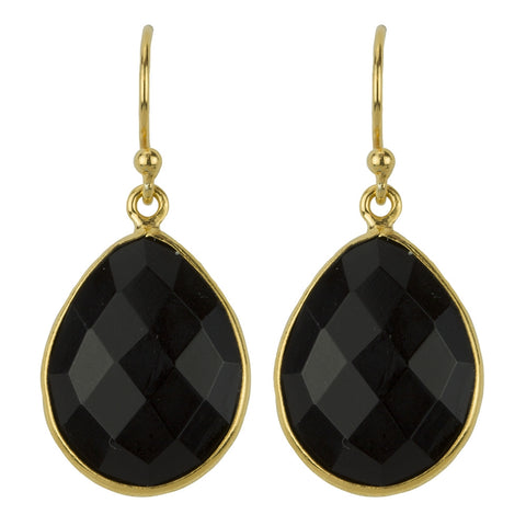 Valiancy Earrings In Gold And Onyx