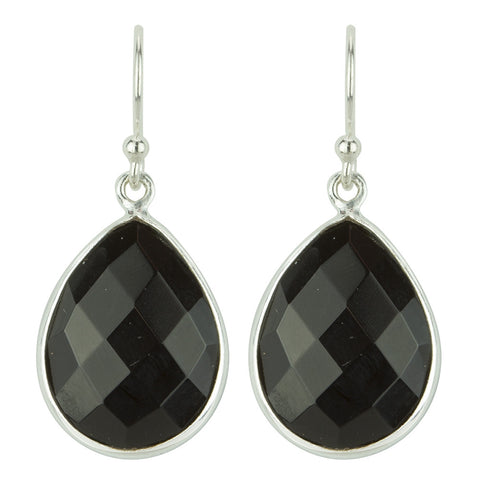 Valiancy Earrings In Silver And Onyx