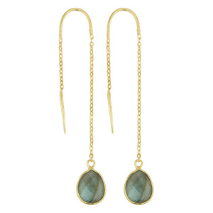 Fluency Earrings In Labradorite And Gold