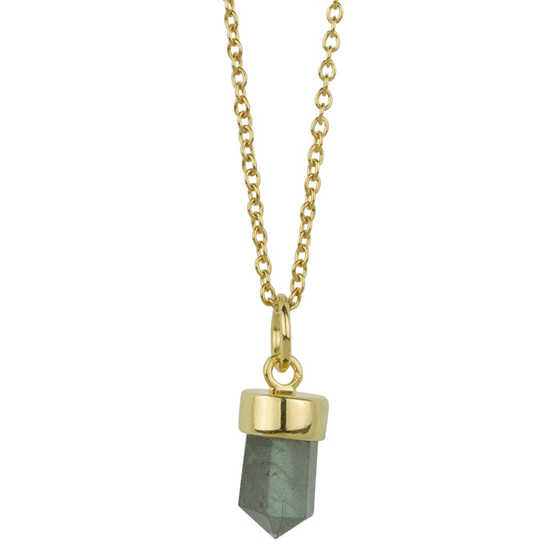 Prism Point Necklace In Gold And Labrodorite