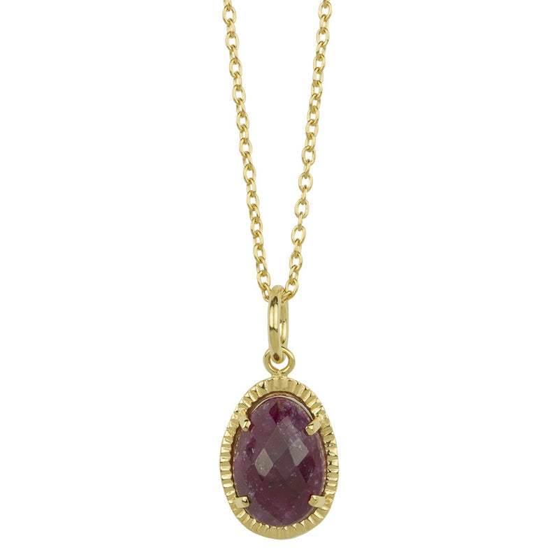 Organic Orb Ruby Necklace