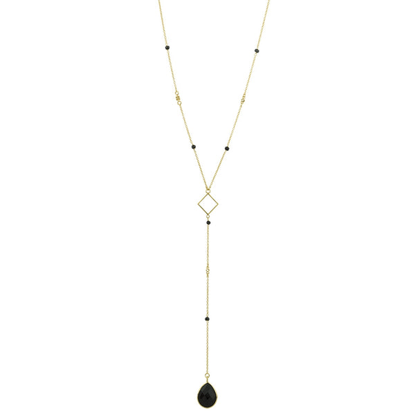 Charisma Necklace In Gold And Onyx
