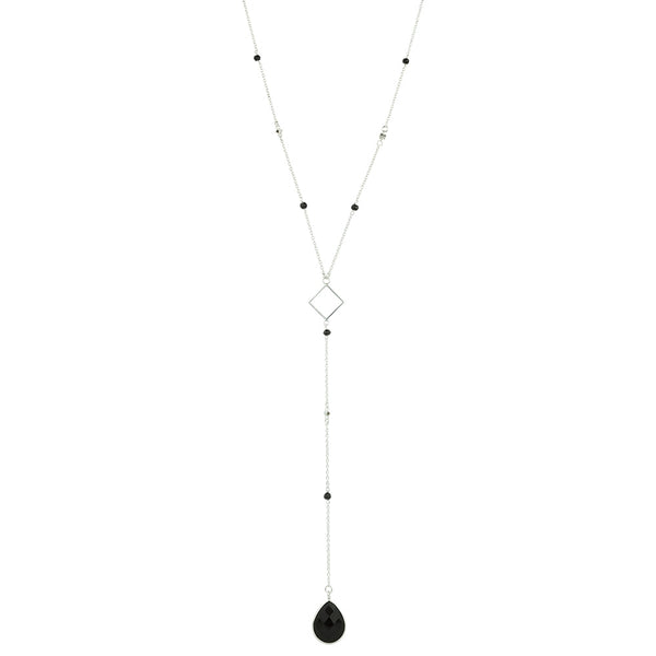 Charisma Necklace In Silver And Onyx