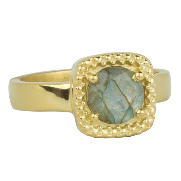 Let it Glow Ring in Gold and Labradorite