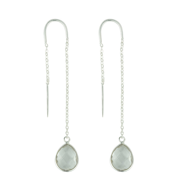 Fluency Earrings In Silver And Quartz