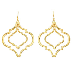 Tangiers Earrings in Gold