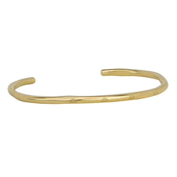 Lotus Crossing Bracelet in Gold