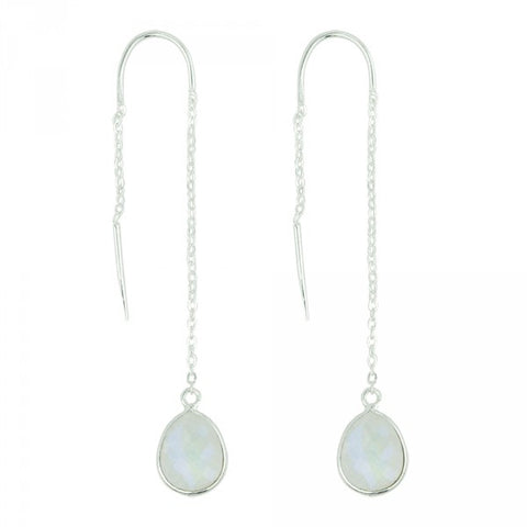 Fluency Earrings In Moonstone And Silver