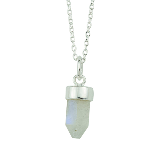 Prism Point Necklace In Silver And Moonstone