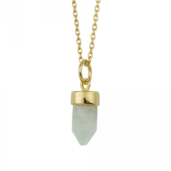 Prism Point Necklace In Gold And Moonstone