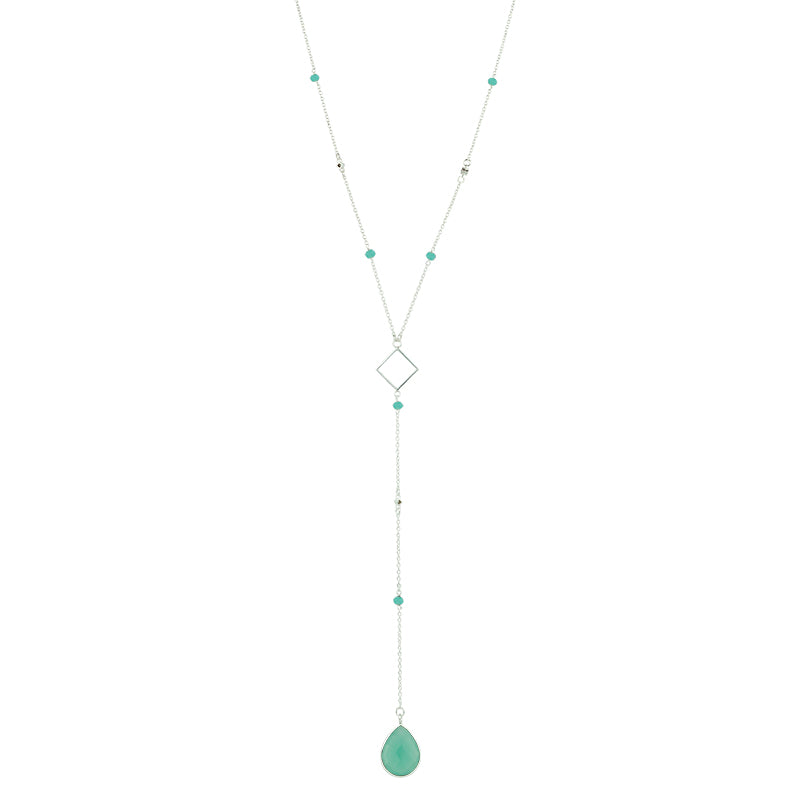 Charisma Necklace - Aqua And Sterling