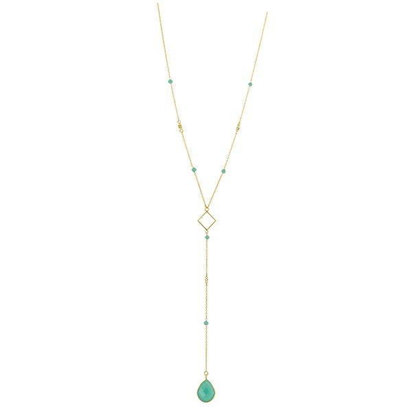 Charisma Necklace - Aqua and Gold