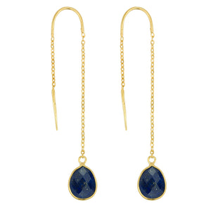 Fluency Earrings In Gold And Lapis