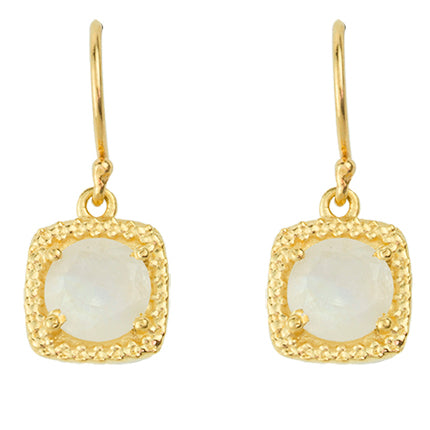 Let it Glow Earrings In Moonstone And Gold