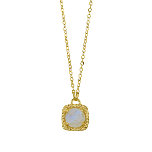 Let it Glow Necklace In Moonstone And Gold