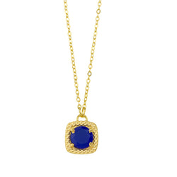Let it Glow Necklace In Blue Chalcedony And Gold