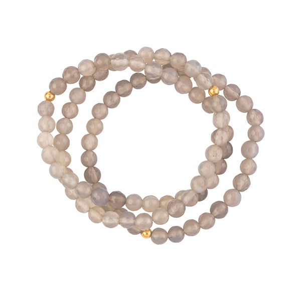 Ombre Onyx Stretch Bracelet Set