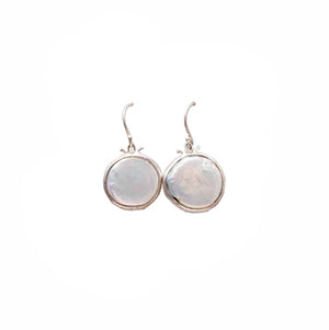 Statement Coin Pearl Hook Earrings