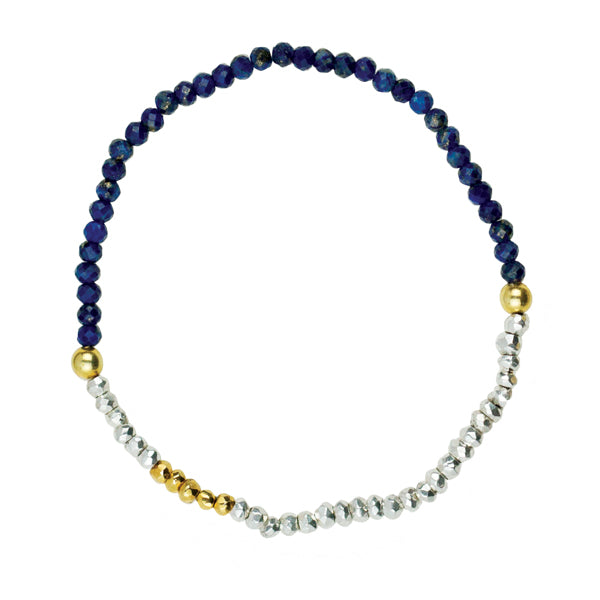 Pyrite's Booty Stretch Bracelet In Lapis