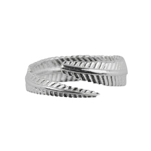 Plume Wrap Ring In Silver