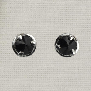 Inverted Stone Post Earring in Black Onyx