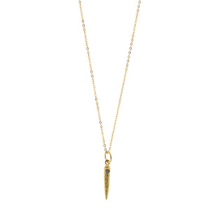 Raw Diamond Anlace Necklace in Gold