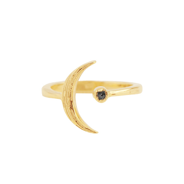Raw Diamond Artemis Ring in Gold