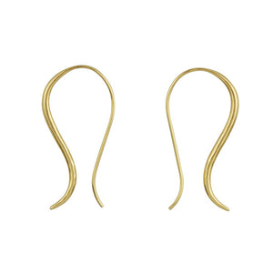 Open Curve Earring in Gold