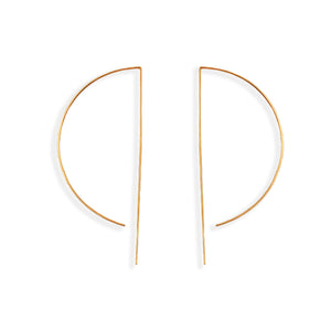 D Wire Hoop in Gold