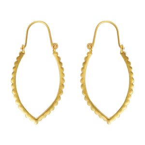 Scalloped Marquise Hoop