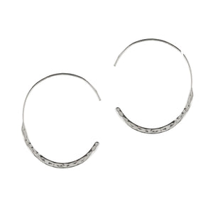 Hammered C Hoop Earrings
