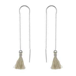 Sandy Beach Tassel Threader Earrings