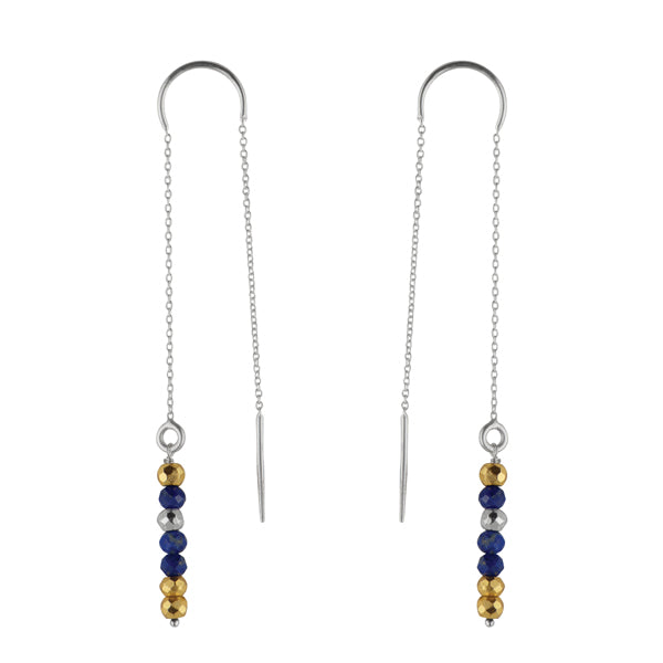 Pyrite's Booty Threader Earring in Lapis