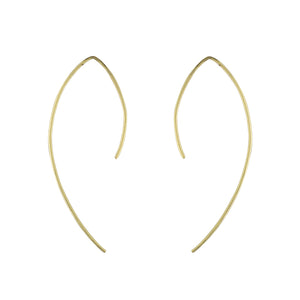 Curved Bar Open Hoops in Gold